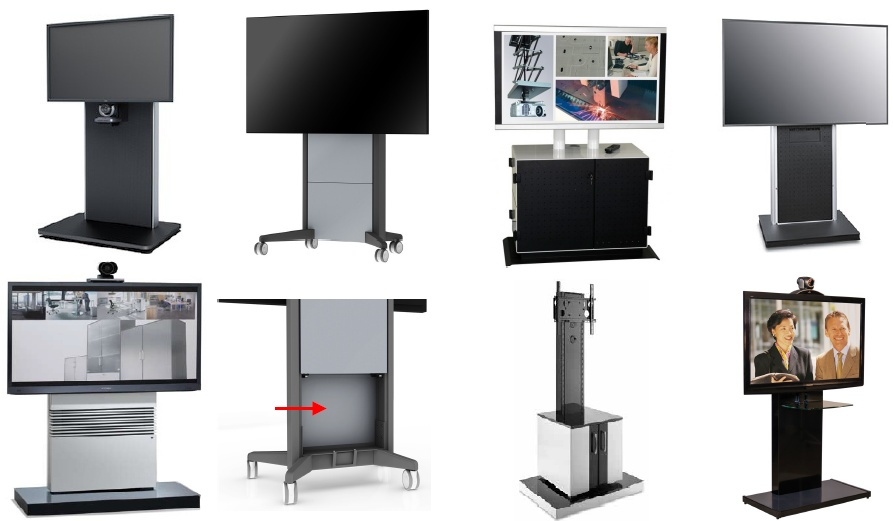 tv standfuss serien h henverstellbar und mit rollen option. Black Bedroom Furniture Sets. Home Design Ideas